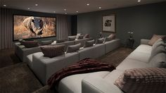home Movie Room – Home Theater Ideas to Make a Cozy Heaven in Your Basement…. home Movie Room – Home Theater Ideas to Make a Cozy Heaven in Your Basement… Best Home Theater, At Home Movie Theater, Home Theater Design, Home Theater Seating, Theater Seats, Dream Theater, Home Entertainment, Home Cinema Room, Media Rooms