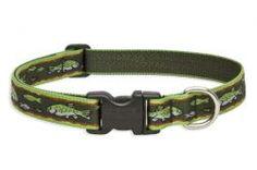 "Lupine Pet Brook Trout 1"" Adjustable Dog Collars"