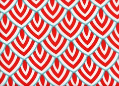 Outdoor/ Indoor Lalo Oxford Scales Fabric Coral