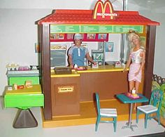 Barbie loves McDonald's- 1980's playset.  I loved this, got it for my 6th birthday.