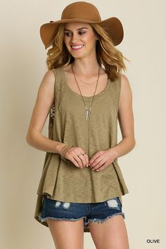 Subtle lace insets grace the shoulders and backline of this flowing hi-low tank with a sweet touch of vintage-inspired charm. Tag Online, Lace Inset, Vintage Inspired, V Neck, Boutique, Tank Tops, Design, Women, Style