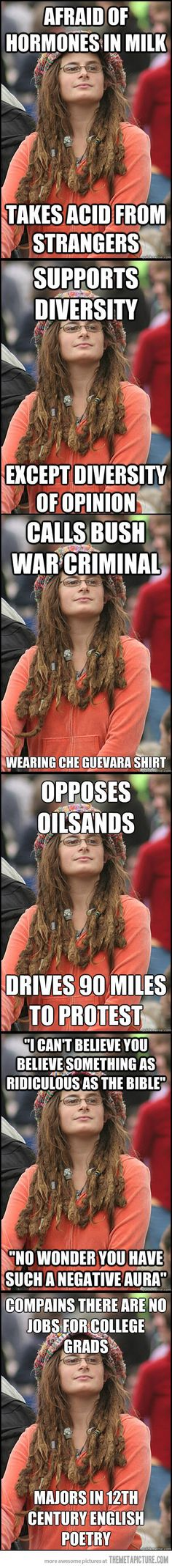 hippie hypocrisy... hehe. I am also afraid of hormones in milk, but I don't take acid from strangers.