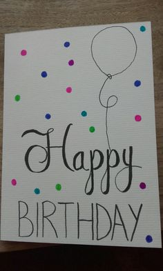 Kaartjes maken Brush Lettering, Diy Cards, Homemade Gifts, Birthday Cards, Birthdays, Gift Wrapping, Bullet Journal, Drawings, Creative