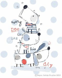 Does the top one have a British bow tie Wonder if he has an accent, too is part of Cute drawings - Illustration Inspiration, Children's Book Illustration, Illustration Children, Doodles, Whimsical Art, Dog Art, Cute Drawings, Cute Art, Character Design