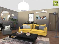 Walken Living Room by ArtVitalex at TSR via Sims 4 Updates