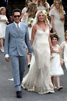 Kate Moss' John Galliano Wedding Dress - Kate Moss Famous Outfits - Harper's BAZAAR