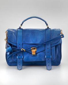 PS1 Medium Satchel Bag, Peacock by Proenza Schouler at Neiman Marcus.