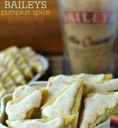 Bailey's Pumpkin Spice Shortbread Cookies