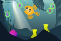 """Who needs a math class when you've got apps? """"Feed your fish, play with numbers."""""""