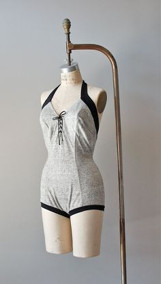 1930s swimsuit / vintage 30s bathing suit / Marled by DearGolden, $224.00