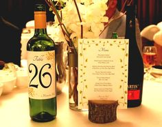 Rustic wedding Table number  -Tree slices - Rustic Wedding Decor - Table numbers - Menu holder - Place card holder