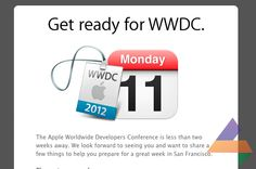 #Apple announces the #WWDC12 schedule. #Keynote starts at 10:00 AM PT on June 11th. We will be there reporting live! The 4Cast team is really excited! :-) #WWDC