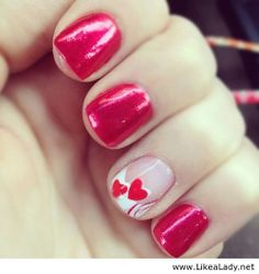 Valentine's Day nails #nails #valentinesday #heart