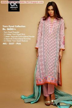 Alkaram Rangoli Collection 2014-2015 Catalog | Yarn Dyed Collection - She9 | Change the Life Style