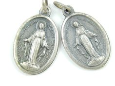 Vintage Miraculous Medal Lot - Virgin Mary Catholic Medal - Our Lady of Grace Medallion - Religious Charm by LuxMeaChristus