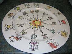 Zodiac plate by Palee Haney