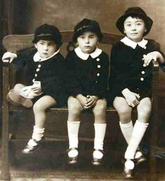1928 - The Pastega boys dressed in Luigia's home made suits. -- Courtesy Griffith Italian Museum