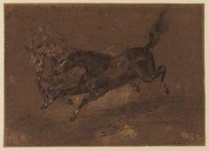 Horses running - Eugène Delacroix