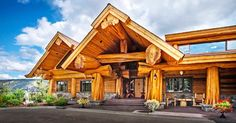 Enter this imposing cedar log home – every room is unlike anything you've seen