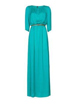 MANGO - Satin long dress