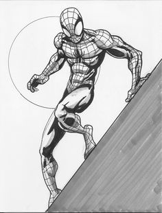 Spider-man by GinoDrone Spiderman Sketches, Spiderman Drawing, Drawing Superheroes, Marvel Drawings, Spiderman Art, Amazing Spiderman, Spiderman Poses, Comic Books Art, Comic Art