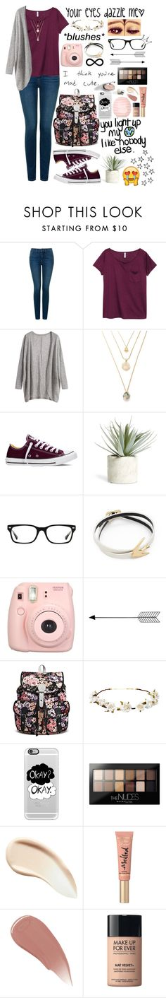 """""""»RTD // Zafia"""" by lost-in-pxrxdise ❤ liked on Polyvore featuring NYDJ, H&M, Converse, Allstate Floral, Ray-Ban, McQ by Alexander McQueen, Cult Gaia, Casetify, Maybelline and Burberry"""