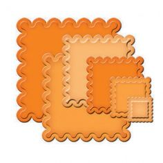 Classic Scalloped Squares Small - Classic Scalloped Squares SM is a set of six Nestabilities® die templates. squares contains  There are seven ½″ wide scallops on each side of the largest die template, and scale down as the die templates decrease in size by ½″.