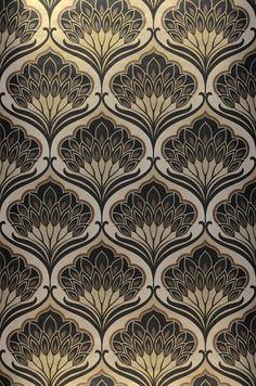 28 Ideas For Wallpaper Pattern Texture Art Deco Wallpaper Art Deco, Retro Wallpaper, Designer Wallpaper, Pattern Wallpaper, Trendy Wallpaper, Damask Wallpaper, Wallpaper Designs, Wallpaper Wallpapers, Black Wallpaper