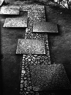 """I like the idea of using our circular pebble mix """"stepping stones"""" in a more formal pathway like this one. (Ben)"""