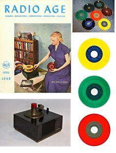 - Radio Age Magazine (April 1949) by RCA Victor - #Music #Kitsch #magazine #RadioAge #Retro #Vintage Records #Vinyl .http://www.pinterest.com/TheHitman14/musical-kitsch-%2B/
