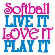 Softball Pillowcase Softball Live It Love It Play It