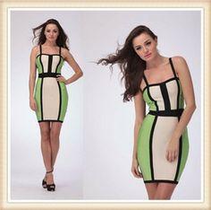 Strap Patchwork Sexy Bandage dress $52.99 DM675