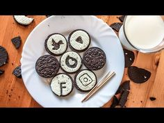 DRAWING ART ON AN OREO BISCUIT 2017 | MixDoodle - YouTube
