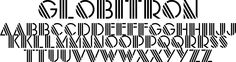 Globitron Font - This font captures the art deco style, but it's also got that future space thing going on. This ain't yo granddaddy's deco style!