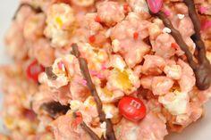Red Velvet White Chocolate Popcorn - Something Swanky