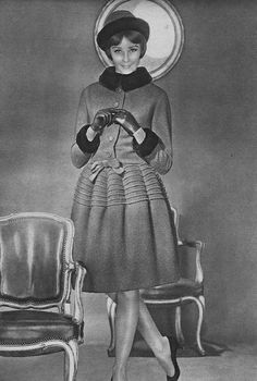 1961-62 Dior (Fall/Winter) ensemble worn by Sophie Derly
