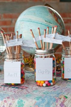 Use pencils as escort cards. | 27 Ways To Throw A School-Inspired Wedding