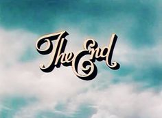 The End- font