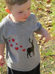 Deer Valentine shirt for a boy!! So funny and too cute!  Etsy listing at https://www.etsy.com/listing/220039915/boy-valentines-day-shirt-deer-with