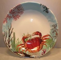 "Gien China pattern ""Ocean"""