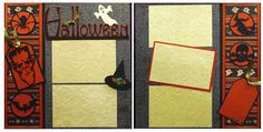 A Halloween scrapbook page that's not too creepy!