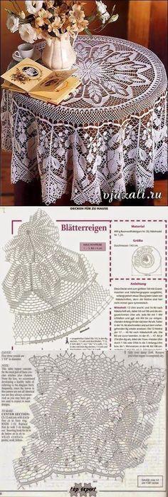 Crochet Patterns: Round tablecloth... • vintage • boho • modern • farmhouse • table decorations unique ideas