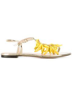 banana embellished sandals