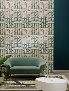 This herbarium was designed with felt pens by Luc Deflandre. Foyer Wallpaper, Old Wallpaper, Print Wallpaper, Fabric Wallpaper, Pattern Wallpaper, Pierre Frey, Custom Carpet, Cool Lighting