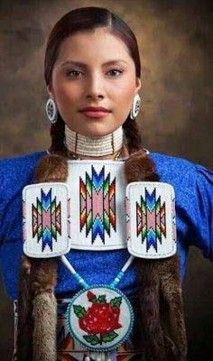 """""""American Beauty"""" - by Craig Lamere. Not only is the dancer beautiful, but that bead work is amazing! Native American Beauty, Native American History, American Indians, American Symbols, Navajo, Kreative Portraits, Inka, Cowboys And Indians, Cree Indians"""