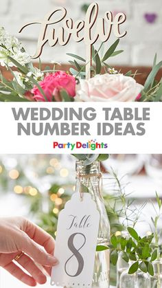 Get inspiration for your wedding table decorations with this collection of our favourite table number ideas. From vintage table numbers to wine bottle table numbers and wooden ones, find the perfect ones for your wedding in our blog post.