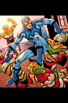 Blue Beetle vs Mad Men Dc Heroes, Comic Book Heroes, Charlton Comics, Blood Brothers, Blue Beetle, Dc Comics Superheroes, Lex Luthor, Comics Universe, Book Images