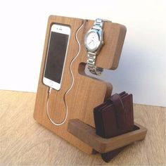 Apoya Soporte Para Celular Accesorio Iphone Madera Petiribi - $ 625,00 en Mercado Libre