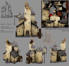 I was looking for a good building to make an RTS fantasy-style model from, so, sifting through my watch list, I found one that would do just right from ~EpicMyst and asked her if it was okay. Many ...