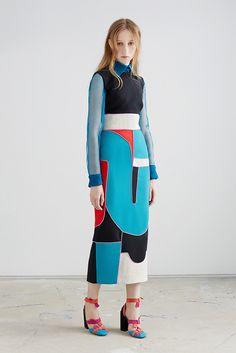 Roksanda Resort 2016 Fashion Show Look 5 High Fashion, Fashion Show, Womens Fashion, Fashion Design, Geometric Fashion, Roksanda, Fashion Project, Mode Inspiration, Mode Style